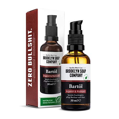 Bartöl (50ml) · BROOKLYN SOAP COMPANY · Bart Öl für die tägliche Bartpflege von 3-Tage-Bart...