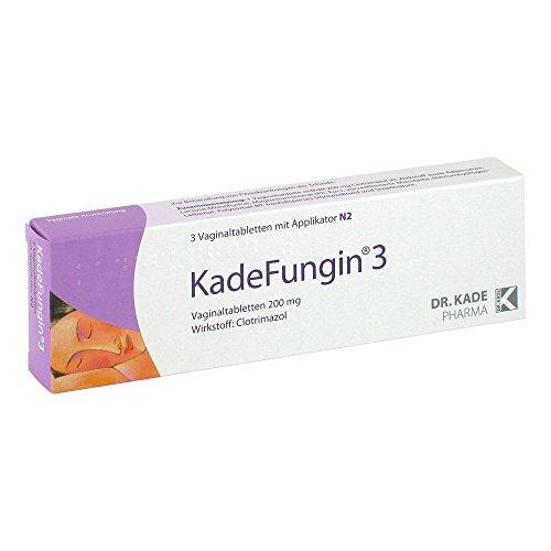 KadeFungin 3 Vaginaltabletten mit Applikator, 3 St. Tabletten