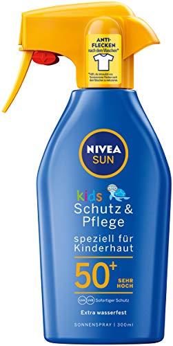 NIVEA SUN Sonnenspray mit verbesserter Formel fr Kinder, Lichtschutzfaktor 50+, 300 ml Sprhflasche,...
