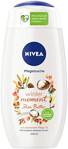 NIVEA Winter Moment Shea Pflegedusche (250 ml), winterliches Duschgel mit dem Duft von Shea Butter,...