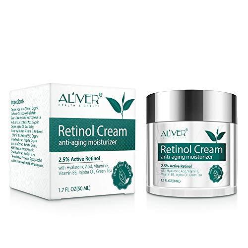Retinol Creme für Gesicht,Augencreme,Hals,Körper,Anti-aging-feuchtigkeitscreme mit Hyaluronsäure,...