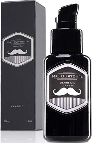 Bartöl - Mr. Burton´s Beard Oil - CLASSIC - unverwechselbarer Duft - PRODUKTSIEGER 2020 - Made in...