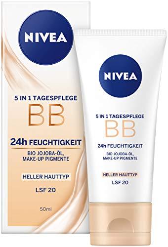 NIVEA Getönte Tagespflege für helle Hauttypen, 5-in-1 BB Cream, 50 ml Tube
