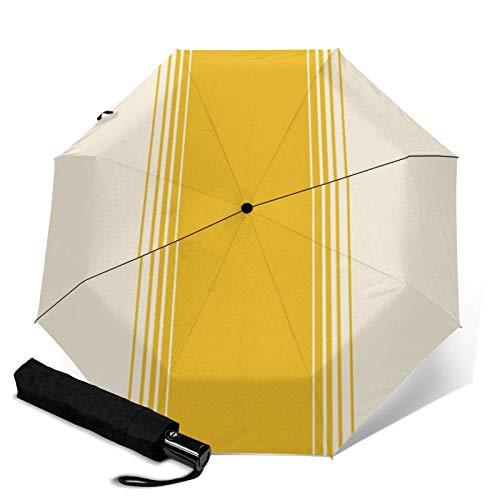 Hochwertiger winddichter Regenschirm, Ringelblumen-Creme, vertikaler Farbverlauf, faltbar,...