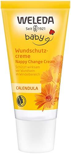 WELEDA Baby Calendula Wundschutzcreme/Babycreme, Naturkosmetik Wundsalbe für den Schutz...