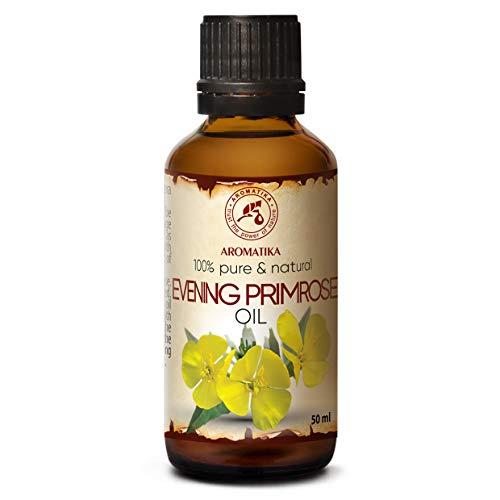 Nachtkerzenöl 50ml - Oenothera Biennis Oil - Kaltgepresst & Raffiniert - 100% Rein & Natürlich...