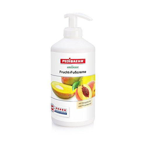 Fußbalsam, Frucht Fußcreme mit Mangobutter und Pfirsichkernöl Fusspflege für jeden Hauttyp,...