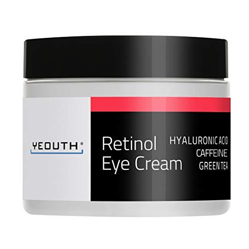 Retinol Augencreme 2,5% von YEOUTH verstrkt mit Retinol, Hyaluronsure, Koffein, Grner Tee,...