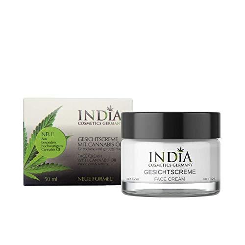 Gesichtscreme mit Cannabis Öl TagNacht feuchtigkeitsspendend bei trockener Haut Neurodermitis...