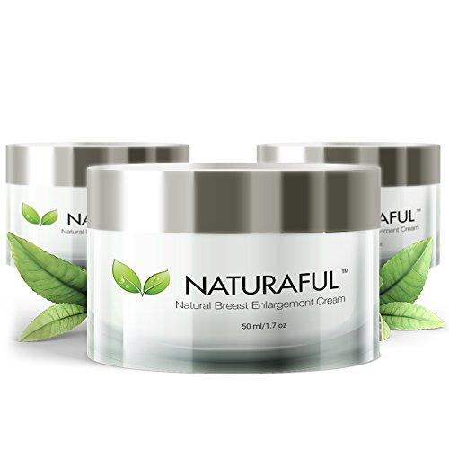 NATURAFUL - (3 Gläser) Beste Brustvergrößerungscreme - natürliche Brustvergrößerung,...