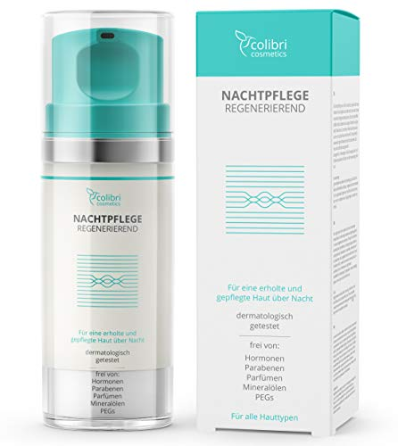 Nachtpflege mit Retinol und Hyaluron Serum - Anti-Aging Feuchtigkeitspflege für Männer und Frauen...