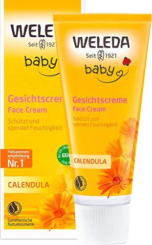 WELEDA Baby Calendula Gesichtscreme, Naturkosmetik Feuchtigkeitscreme zur Pflege von trockener und...
