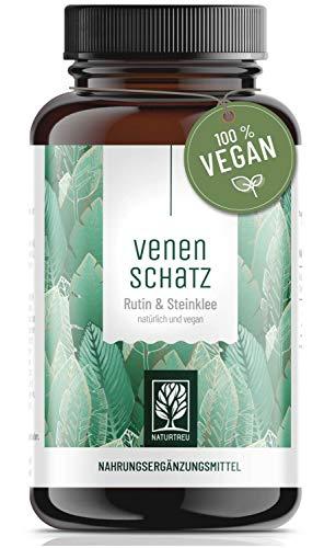 Venenkapseln - 500mg Rutin hochdosiert mit 394mg Steinklee - pflanzliche Venentabletten vegan -...