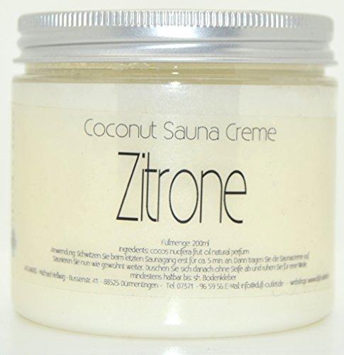 ZITRONE 200ml Coconut Sauna Creme-Saunacreme-Pflegecreme-Pflege Creme-Saunapflege-Kokosöl-Kokos...