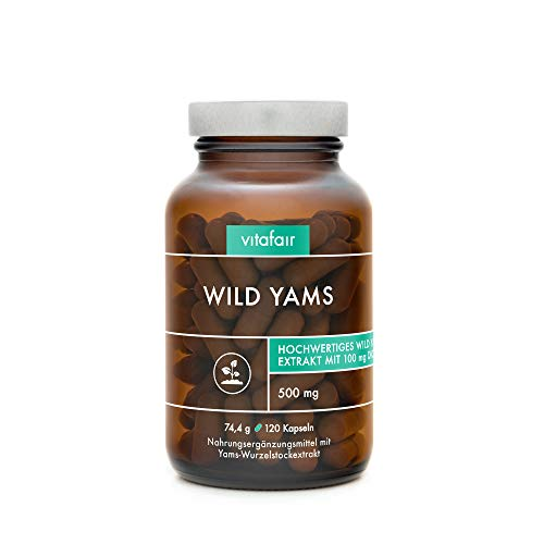 VITAFAIR Yamswurzel Kapseln hochdosiert (German Quality) - 500 mg Yamswurzel Extrakt mit wertvollem...