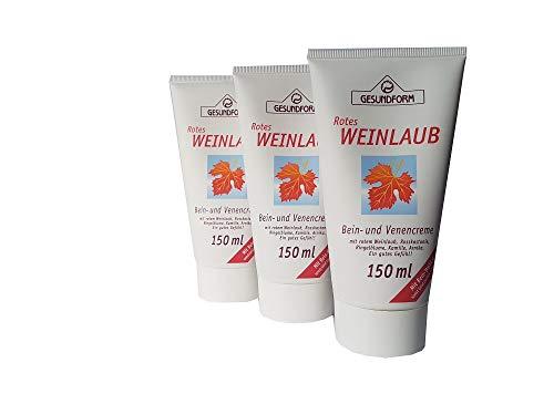 Hochwertige Bein- und Venencreme mit rotem Weinlaub, Roßkastanie, Ringelblume, Kamille und Arnika;...