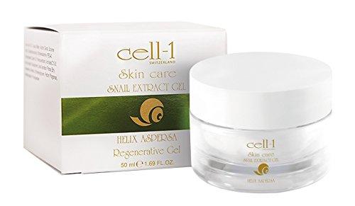 cell-1 Anti Falten Schnecken Gel I Creme gegen Pickel Narben Akne unreine Haut & Altersflecken I...
