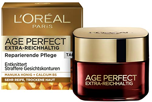 L'Oréal Paris Age Perfect Extra-Reichhaltige Tagescreme für trockene und reife Haut,...