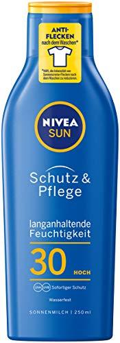 Nivea Sun Schutz & Pflege Sonnenmilch mit verbesserter Formel, Lichtschutzfaktor 30, 1er Pack (1 x...