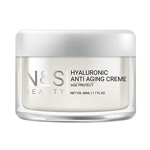 N&S Beauty | Anti Aging Creme mit Hyaluronsure und Coenzyme Q10 | Anti Falten | Gesichtscreme fr...