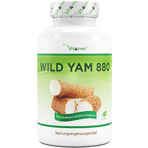 Wild Yam Wurzel Extrakt - 240 Kapseln (4 Monatsvorrat) - Premium: Original Mexican Wild Yamswurzel -...
