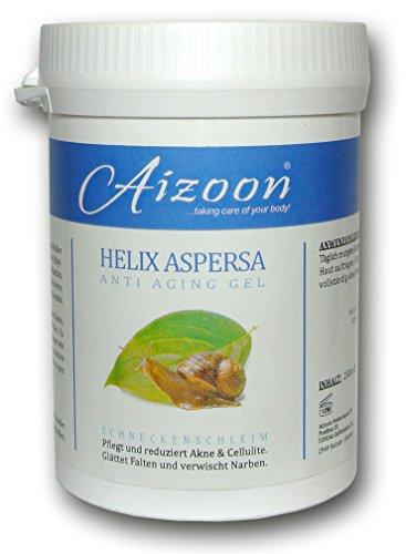 Aizoon 250ml Dose Schneckengel Schneckenschleim Schneckencreme Anti Aging Gel Narben Cellulite Creme...