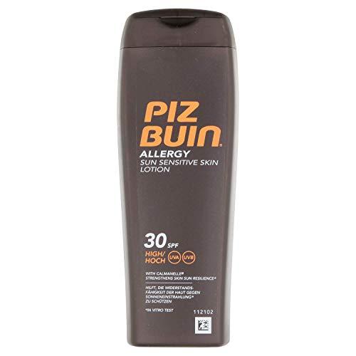 PIZ BUIN Allergy Sensitive Skin Sun Lotion LSF 30 – Feuchtigkeitsspendende Sonnencreme für...