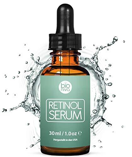 Retinol Serum Testsieger 2019 - Retinol Liposomen Liefersystem mit Vitamin C & Vegan Hyaluronsäure...