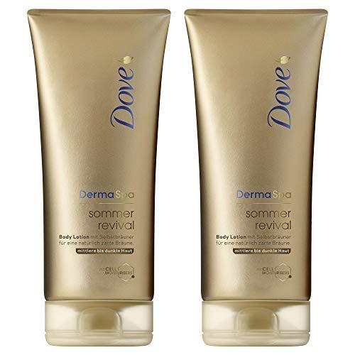 Dove DermaSpa Body Lotion für mittlere bis dunkle Hauttypen Sommer Revival mit Cell-Moisturisers,...