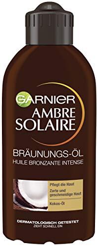 Garnier Ambre Solaire Tiefbraun Bräunungs-Öl, Selbstbräuner mit Kokosöl,...