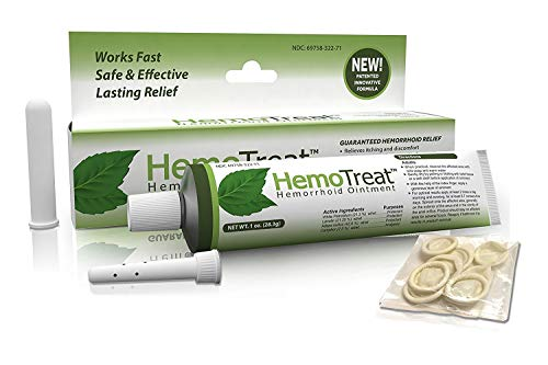 HemoTreat Hämorrhoiden Behandlung Creme - HemoTreat 1 Tube mit internem Applikator - Schnelle...