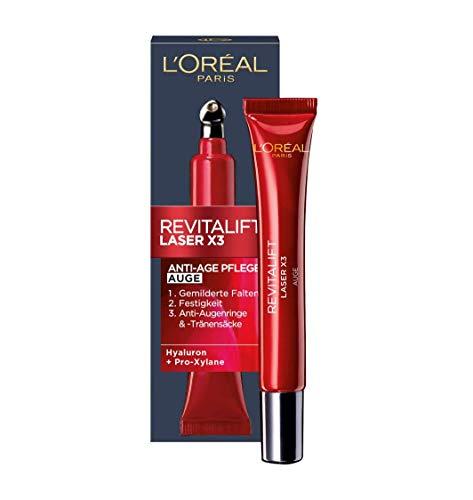 L'Oréal Paris Augenpflege, Revitalift Laser X3, Anti-Aging Augencreme mit 3-fach Wirkung,...