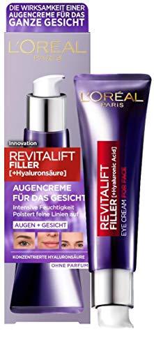 L'Oréal Paris Augenpflege, Revitalift Filler, Anti-Aging Augencreme für das Gesicht, Anti-Falten...