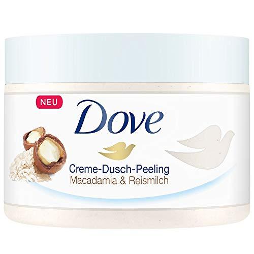 Dove Dusch-Peeling Macadamia & Reismilch, 4er Pack (4 x 225 ml)