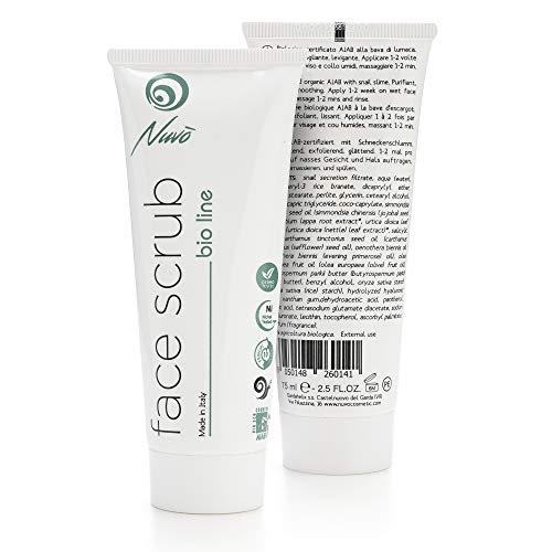 Nuvo' Schneckenschleim Gesichtspeeling Face Scrub -BIO-zertifiziertes- für das Gesicht. Gentle...