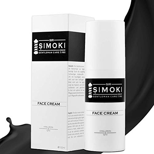 Sir Simoki tägliche Gesichtscreme für Männer – mit Hyaluron und Q10 – 100 ml...
