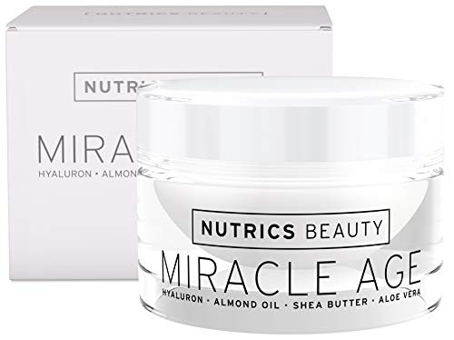 Nutrics Beauty | Anti Age Tages und Nachtcreme | Hyaluronsäure + Aloe Vera + Shea Butter | 50 ml |...