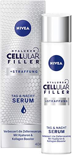 NIVEA Hyaluron CELLular Filler Anti-Age Serum (1 x 40 ml), Anti Falten Creme für Tag und Nacht,...