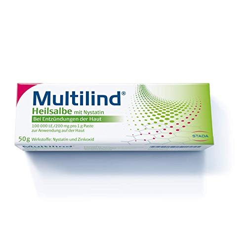 MULTILIND Heilsalbe - Zinksalbe bei Entzündungen der Haut mit dem Anti-Pilz Wirkstoff Nystatin und...