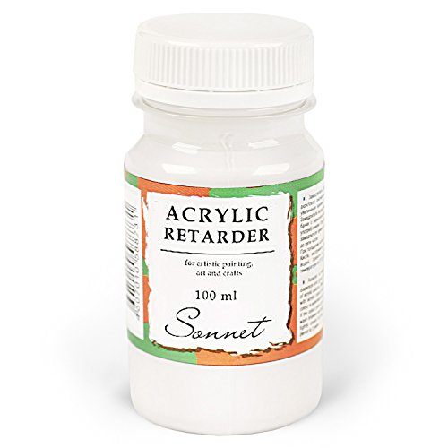 Sonnet Acryl Retarder Verzögerer | Langsam Trocknendes Medium für Acrylfarben | 100 ml...