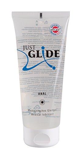 Just Glide Anal Gleitgel 200 ml - Natürliches Gleitmittel auf Wasserbasis für sie und ihn,...