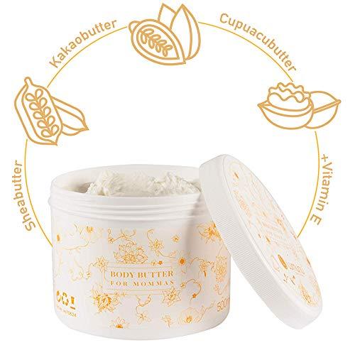 Deluxe Body-Butter fr Babybuche (500ml), reichhaltiges Krper-Mousse fr trockene Haut aus 3...