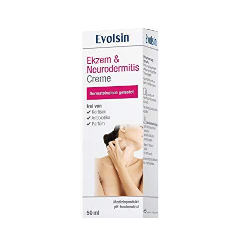 Evolsin® Ekzem & Neurodermitis Creme I OHNE KORTISON I Lotion, Salbe für gereizte, trockene,...