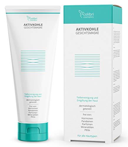 Aktivkohle Gesichtsmaske mit 2% BHA Salicylsäure - reinigt das Gesicht und verkleinert die Poren...