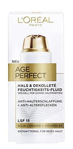 L'Oréal Paris Age Perfect Hals und Dekolleté Feuchtigkeitspflege, mit Soja-Ceramid, entknittert...