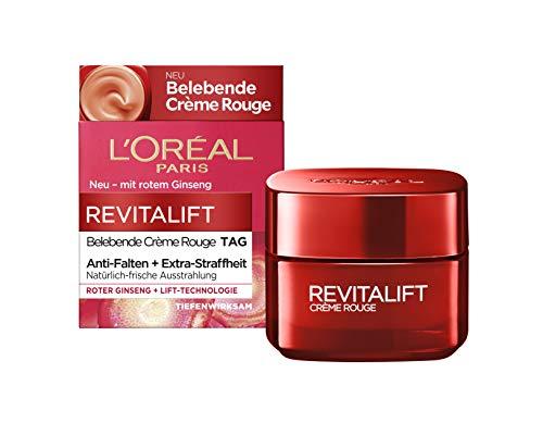 L'Oréal Paris Tagespflege, Revitalift Belebende Crème Rouge, Anti-Aging Gesichtspflege,...