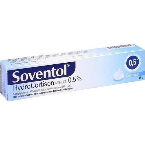SOVENTOL Hydrocortisonacetat 0,5% Creme 30 g