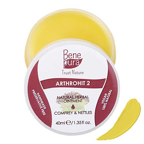 BenePura ArthroHit 2 - Natürliche Kräutersalbe 40 ml - Beinwell & Brennnessel - Starkes...