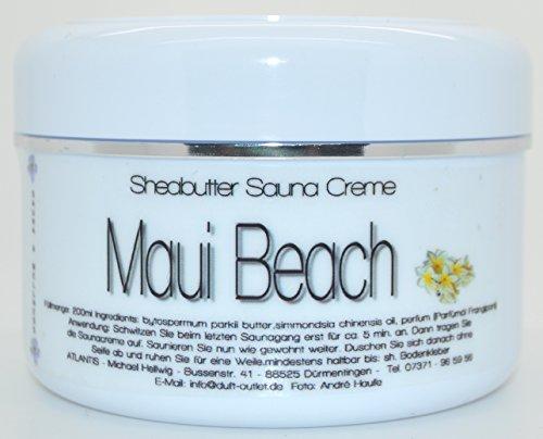 MAUI BEACH 200ml Sheabutter Saunacreme-Sauna-Creme-Sauna-Pflegecreme-mit Sheabutter & Jojobaöl