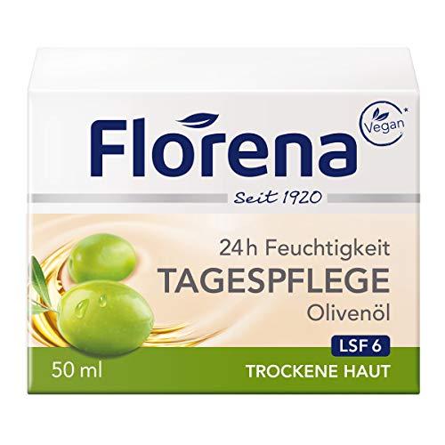 Florena Tagespflege mit Olivenl Gesichtscreme, 1er Pack(1 x 50ml)